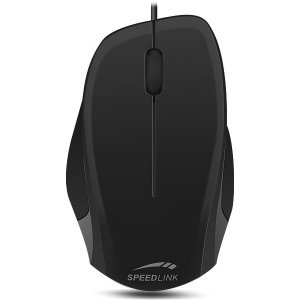 Мишка Speedlink Ledgy, Optical Mouse, wired, 3-button mouse, Ergonomic shape for right-handed use, 900dpi optical sensor, USB Cable: 1.3m, Black-Black (снимка 1)