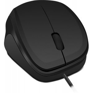 Мишка Speedlink Ledgy, Optical Mouse, wired, 3-button mouse, Ergonomic shape for right-handed use, 900dpi optical sensor, USB Cable: 1.3m, Black-Black (снимка 3)