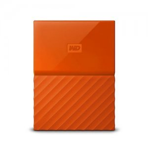 "Външен твърд диск Western Digital My Passport Thin 2TB, 2.5"", USB3.0, Orange (снимка 1)"