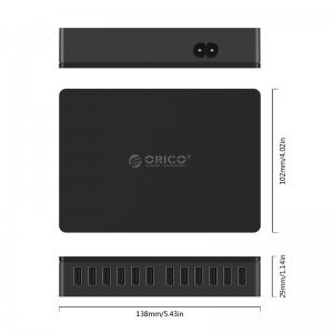 Зарядно устройство Orico DUB-12P-BK, 12 Port, 100W, 220V (снимка 4)