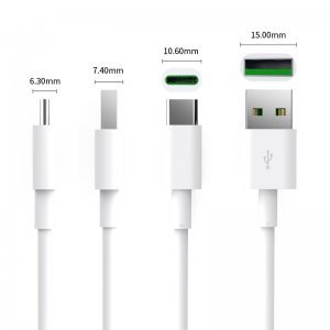 Кабел USB Type A to Type C, 0.5m, 5A charging, White, Orico ATC-05-WH (снимка 3)