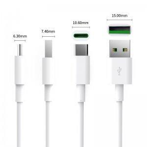 Кабел USB Type A to Type C, 0.5m, 5A charging, White, Orico ATC-05-WH (снимка 3)