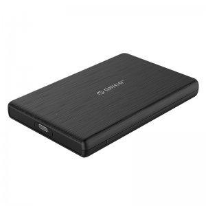 """Кутия за диск Orico 2189C3-BK, 2.5"""" SATA to USB Type-C, Black (снимка 1)"""