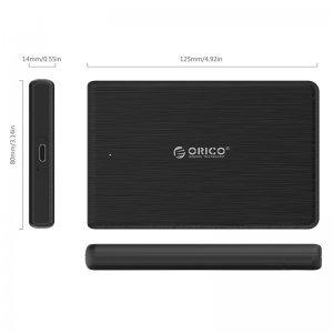 """Кутия за диск Orico 2189C3-BK, 2.5"""" SATA to USB Type-C, Black (снимка 2)"""