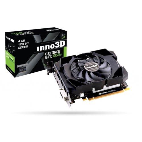 Видео карта nVidia Inno3D GTX 1050 Ti Compact X1, 4GB GDDR5, 128 bit, PCI-E 3.0 x16, DVI-D, HDMI, DisplayPort DP, Herculez 1000 Cooler (Double Slot), Retail (снимка 1)