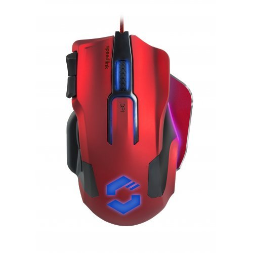 Мишка Speedlink Omnivi Core, Optical Gaming Mouse, 12 000 dpi optical sensor, 10 configurable buttons, DPI switch, polling rate up to 1,000Hz, frame rate: 12 000fps, Cable: 1.8m, red-black (снимка 1)