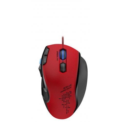 Мишка Speedlink Scelus, Optical Gaming Mouse, 3200 dpi optical sensor, ergonomic, 8 programmable buttons, second fully configurable scroll wheel, profile switch, Internal memory, Cable: 1.8m, black-red (снимка 1)