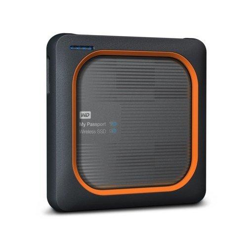 "Външен твърд диск Western Digital My Passport Wireless SSD 2TB, 2.5"", USB3.0, SD Slot, 802.11ac/n Wi-Fi, Gray (снимка 1)"