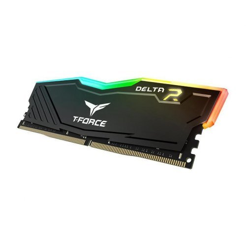 RAM памет DDR4 PC 8GB 3000MHz CL16 T-Force DELTA RGB, Black, Team Group (снимка 1)