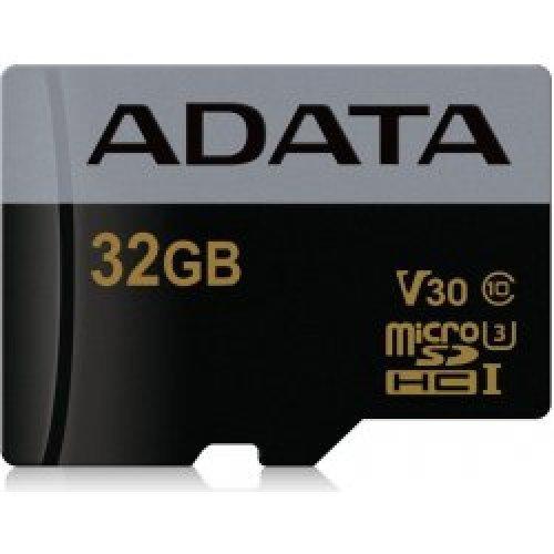 Флаш карта Secure Digital Card Micro 32GB Adata SDHC UHS-I U3 V30-скорост на запис 3 пъти по-висока- 30 MBps (240Mbps)  (снимка 1)