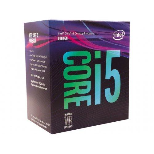 Процесор Intel Coffee Lake Core i5-8600, LGA1151, 3.1GHz (4.3GHz with Turbo), 9MB Smart Cache, 14nm, 64 bit, 65W, GPU Intel UHD 630, Box (снимка 1)
