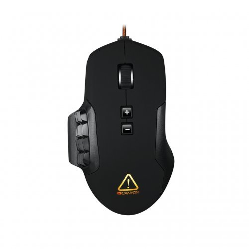 Мишка Canyon Despot CND-SGM9 Wired MMO Gaming Mouse, Pixart 3325 IC sensor, up to 10000 dpi adjustable and Marco setting by software, Black rubber coating, USB (снимка 1)