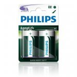 Philips Longlife батерия R20 D, 2-foil, R20L2F/10 (Батерии AA/AAA и други)