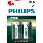 Philips Longlife батерия R14 C, 2-blister, R14L2B/10 (Батерии AA/AAA и други)