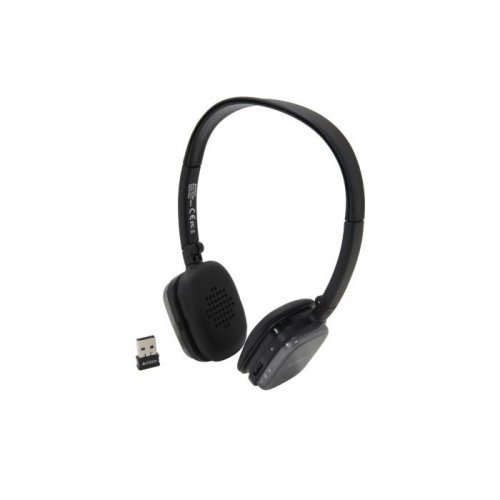 Слушалки A4Tech RH-200, Silver, 2.4GHz Wireless HD Headset, 20Hz - 20kHz, SNR 90dB, Battery for up to 8 hrs, Charging time 1.8 hours, Nano USB receiver (снимка 1)