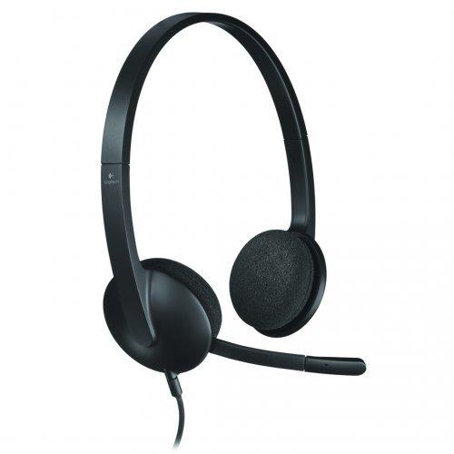 Слушалки Logitech USB Headset H340, 20Hz – 20kHz, Microphone: 100Hz – 10kHz, 1.8m cable (снимка 1)
