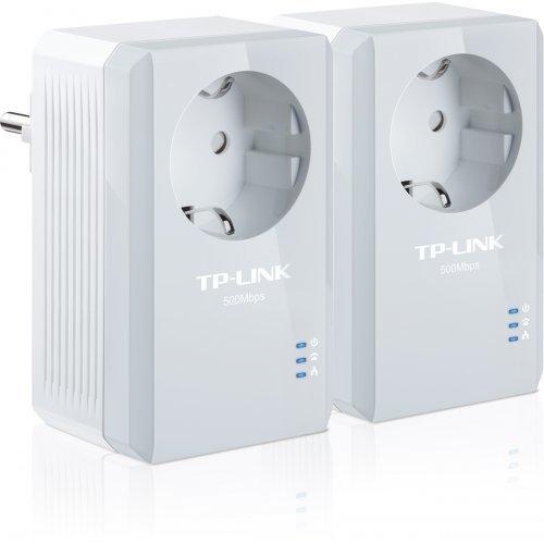 TP-Link TL-PA4010PKIT, AV500 Powerline Adapter with AC Pass Through Starter Kit (снимка 1)