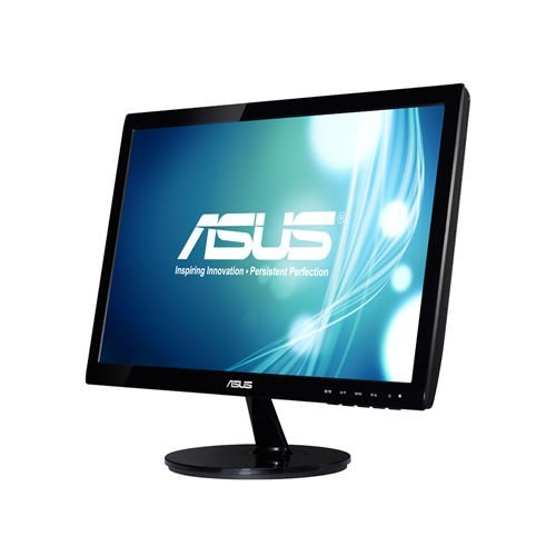 "Монитор Asus 18.5"" Wide VS197DE, LED, 1366x768, 200 cd/㎡, 50000000:1, 5ms, D-Sub, Black (снимка 1)"
