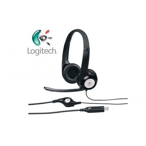 Слушалки Logitech H390 USB Headset, 20Hz–20kHz, Microphone 100Hz - 10kHz, USB, 2.4m cable (снимка 1)