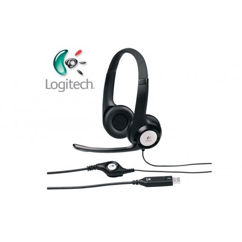 Слушалки Logitech H390 USB Headset, 20Hz–20kHz, Microphone 100Hz - 10kHz, USB, 2.4m cable (снимка 1)