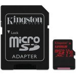 Secure Digital Card Micro 128GB, Kingston Canvas React UHS-I U3 V30 A1, Adapter, SDCR/128GB (Флаш карти)