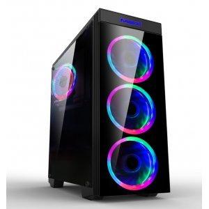 Компютърна кутия Makki 8872-RGB, 4x 120mm RGB Double Ring Fans (снимка 1)