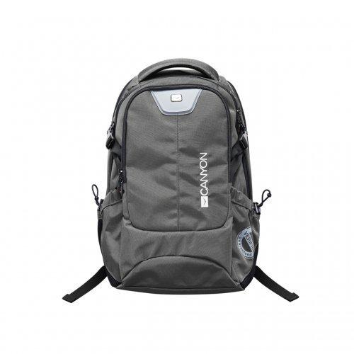 "Чанта за лаптоп Canyon CND-TBP5B7, 15.6"" Backpack, Dark Gray (снимка 1)"