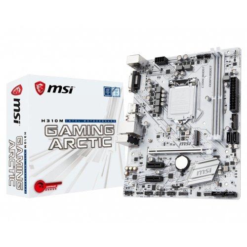 Дънна платка MSI H310M Gaming Arctic, LGA1151 (снимка 1)