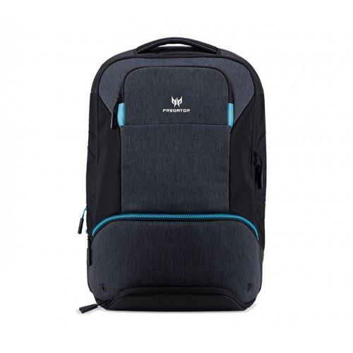 """Чанта за лаптоп Acer NP.BAG1A.291, 15.6"""" Predator Hybbrid Backpack, Black with Teal Blue (снимка 1)"""