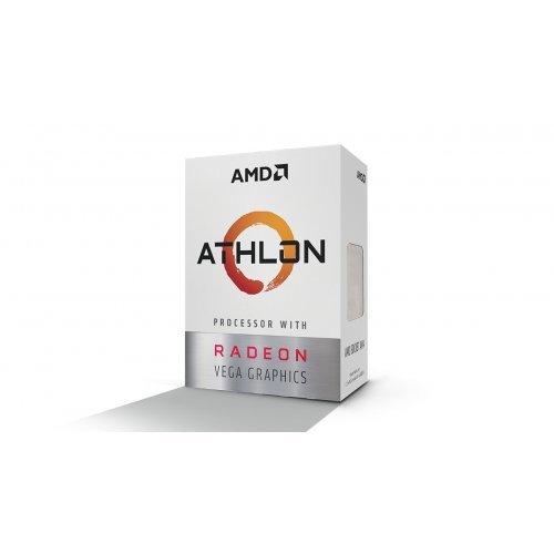 Процесор AMD APU Athlon 200GE, 2C/4T, s.AM4, 3.2GHz, 1MB L2 Cache, 4MB L3 Cache, 35W, Radeon Vega 3 Graphics (снимка 1)