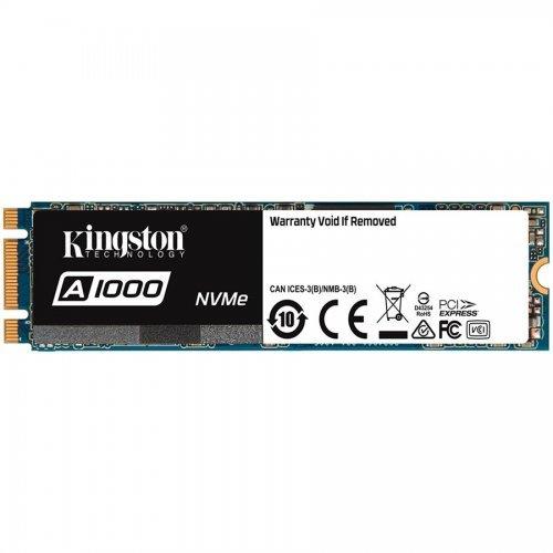 Кабел Kingston 480GB A1000 NVMe, PCI Express 3 x2, M.2 2280 (снимка 1)