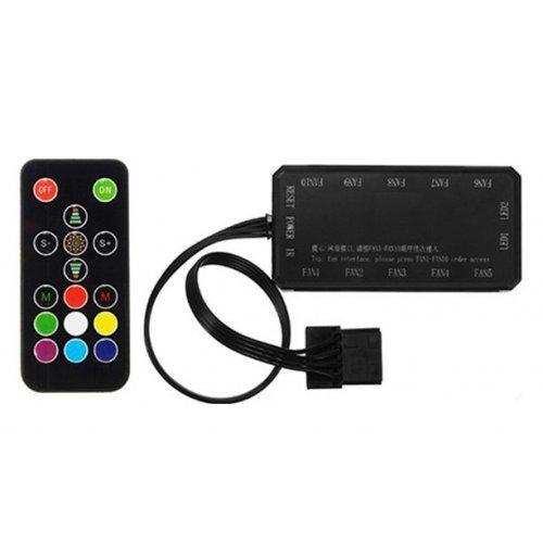 Въздушно охлаждане на процесор Makki RGB Fan Controller, 10 Fans, 6pin, IR Remote Control (снимка 1)