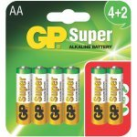 GP 4+2x AA LR6, 2200mAh, 6 броя в опаковка (Батерии AA/AAA и други)