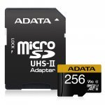 Secure Digital Card Micro 256GB Adata SDXC Premier One UHS-II U3 V90, Adapter (Флаш карти)