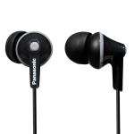 Panasonic RP-HJE125E-K In-Ear headphones, 6 - 24 000 Hz, 104 dB/mW, 10mm drivers, 1.2 m cable, 3.5 mm jack, Black (Слушалки)