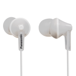 Panasonic RP-HJE125E-W In-Ear headphones, 6 - 24 000 Hz, 104 dB/mW, 10mm drivers, 1.2 m cable, 3.5 mm jack, Silver (Слушалки)