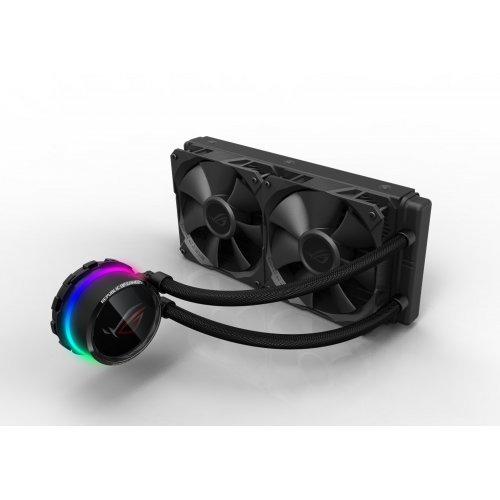Въздушно охлаждане на процесор Asus ROG Ryuo 240 Aura Sync, OLED LiveDash (снимка 1)