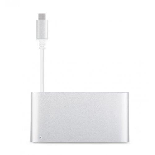 Заключващо устройство за лаптоп Moshi USB-C Multiport Adapter, HDMI, USB-A, Silver (снимка 1)