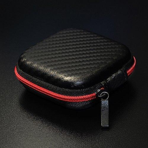 Слушалки Earphone Box, Zipper, Carbon Fiber (снимка 1)