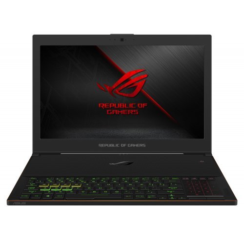 "Лаптоп Asus ROG Zephyrus GX501GI-EI013T, черен, 15.6"" (39.62см.) 1920x1080 (Full HD) без отблясъци 144Hz IPS, Процесор Intel Core i7-8750H (6x/12x), Видео nVidia GeForce GTX 1080/ 8GB GDDR5, 16GB DDR4 RAM, 512GB SSD диск, без опт. у-во, Windows 10 64 ОС, Клавиатура- светеща с БДС (снимка 1)"