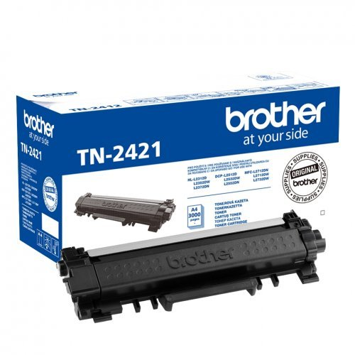 Тонер касета Brother TN-2421, TN2421; Тонер касета(toner) за DCP-L2512D, DCP-L2532DW, DCP-L2552DN, HL-L2312D, HL-L2352DW, HL-L2372DN, MFC-L2712DN, MFC-L2712DW и MFC-L2732DW (снимка 1)