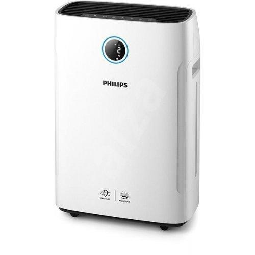 """Пречиствател за въздух Пречиствател и овлажнител за въздух Philips AC2729/50, """"2-в-1""""; Размер на стаята: 30 м² CADR за частици: 250 м3/ч Скорост на овлажняване: 500 мл/ч; премахва 99,9% от частици 3nm (снимка 1)"""