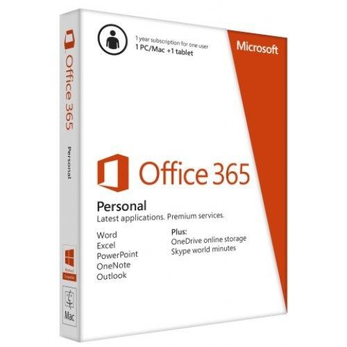 Приложен софтуер Microsoft Office 365 Personal English EuroZone 1 year Subscription Medialess P4 (снимка 1)