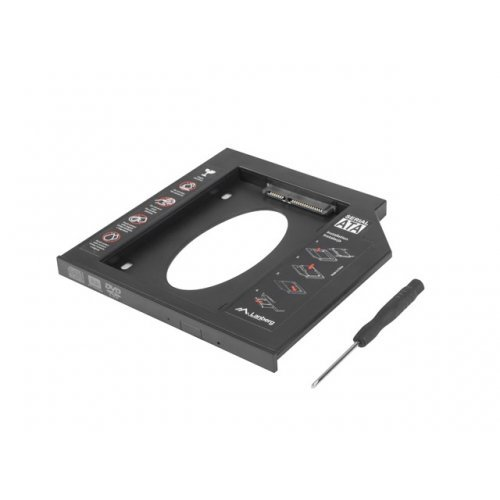 Кади за лаптоп DVD-ROM SATA to SATA 2nd HDD Caddy Plastic 9.5mm (снимка 1)