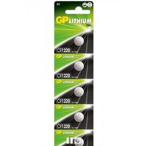 Батерия Батерия CR1220 3V GP блистер / цената е за 1 бр / (снимка 1)