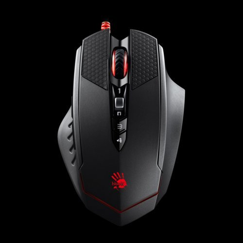 Мишка A4Tech Bloody T70 Optical IR Gaming Mouse, Frame speeh 6666 fps, 4000 cpi, Infrared switches and wheel, 9 buttons, 1.8m USB cable, Black (снимка 1)