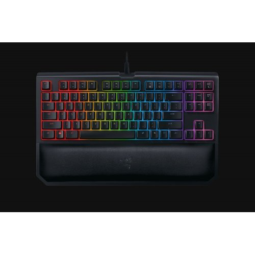 Клавиатура Razer BlackWidow Tournament Edition Chroma V2, Mechanical Gaming Keyboard - US Layout,  Green Switch, USB braided fiber cable (снимка 1)