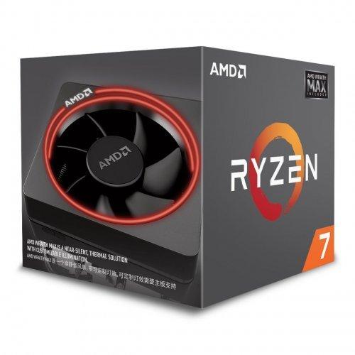 Процесор AMD Ryzen 7 2700 MAX, 8C/16T, s.AM4, 3.2GHz, (4.1GHz with Boost), 20MB Cache, 65W, Wraith Max (RGB LED) Cooler, No VGA, Box (снимка 1)