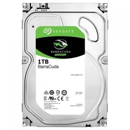 Твърд диск Seagate 1TB BarraCuda, ST1000DM010, 2 год. гар-я, SATA3 64MB 7200rpm (снимка 1)