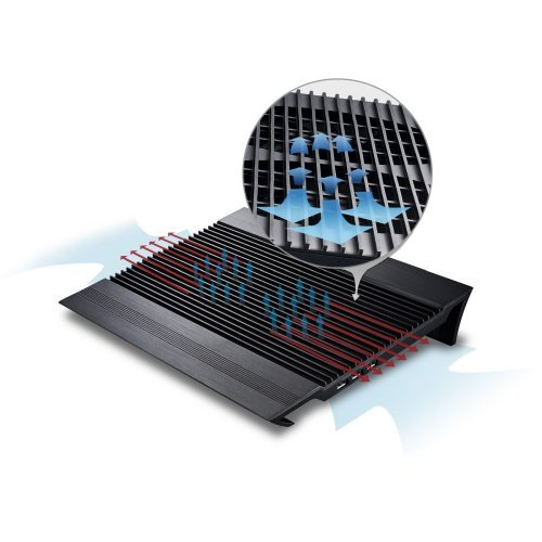 """Стенд за лаптоп DeepCool DP-N24N-N8BK Охлаждане за лаптоп Notebook Cooler N8 17"""" - Aluminium - Black (снимка 1)"""